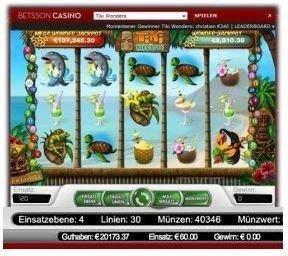 Betsson Casino gewonnen