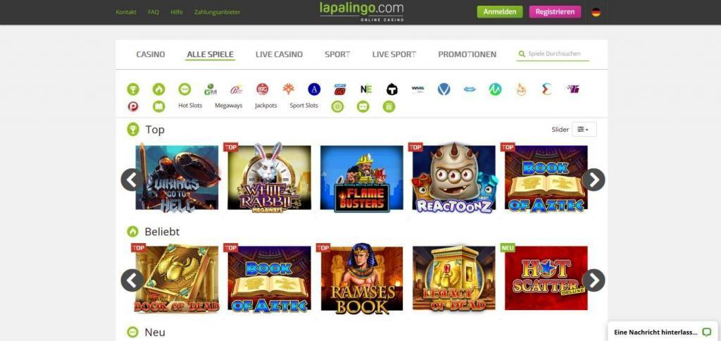 Lapalingo Casino Online - Online casino test - which one is the best in 2021?