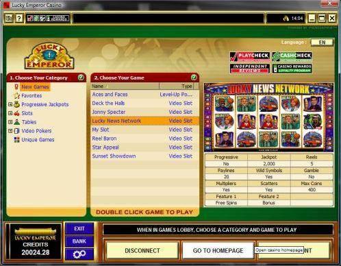 Lucky Emperor Casino Games