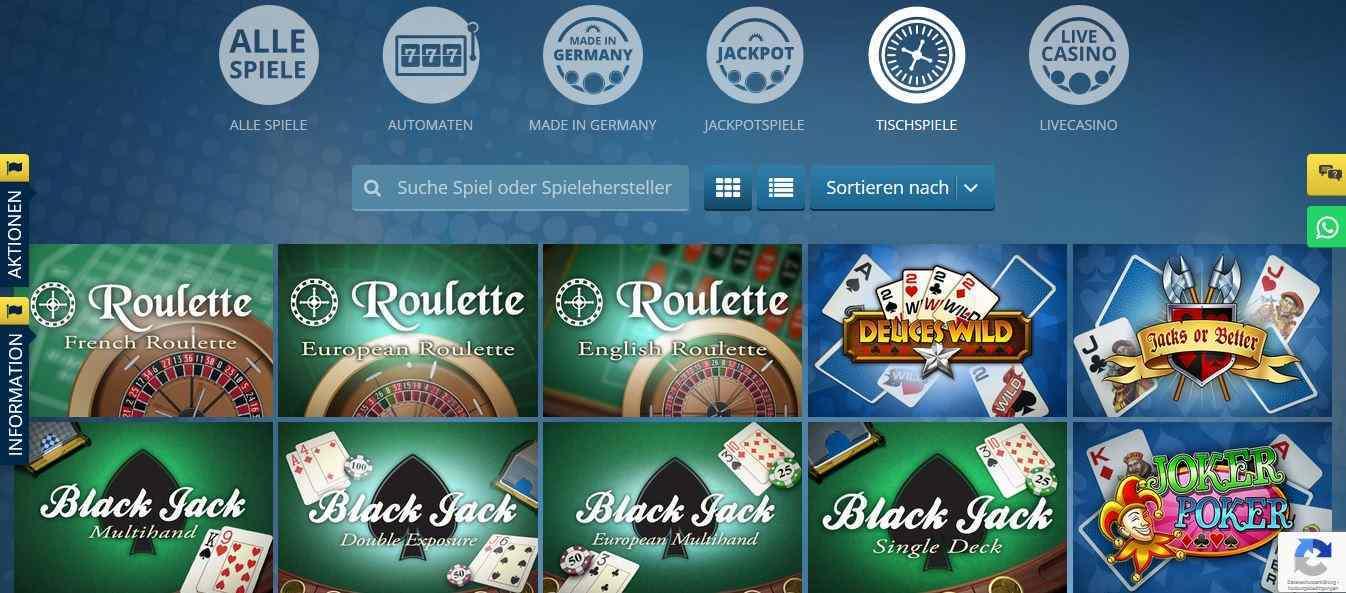 Sunmaker Casino Tischspiele