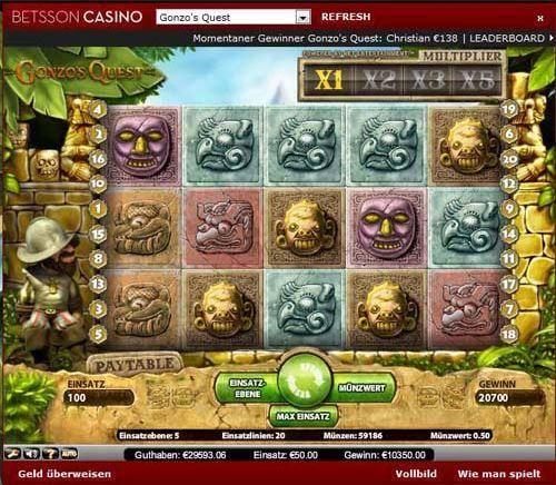 betsson casinogewinn