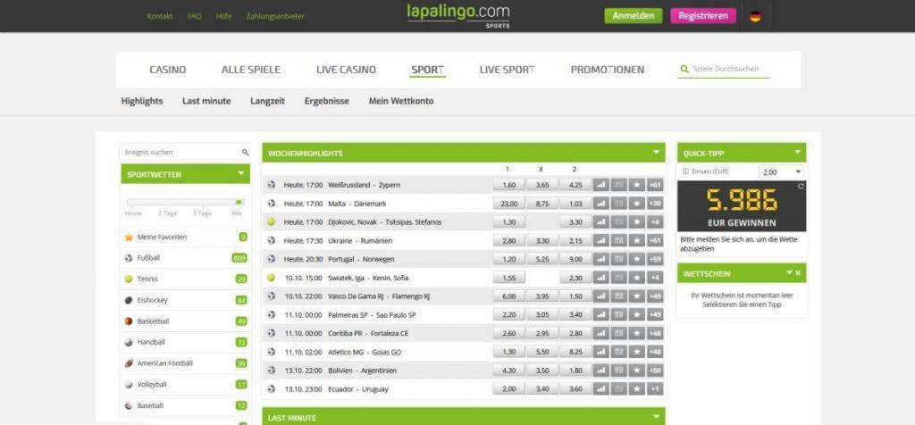 lapalingo sport - Online casino test - which one is the best in 2021?