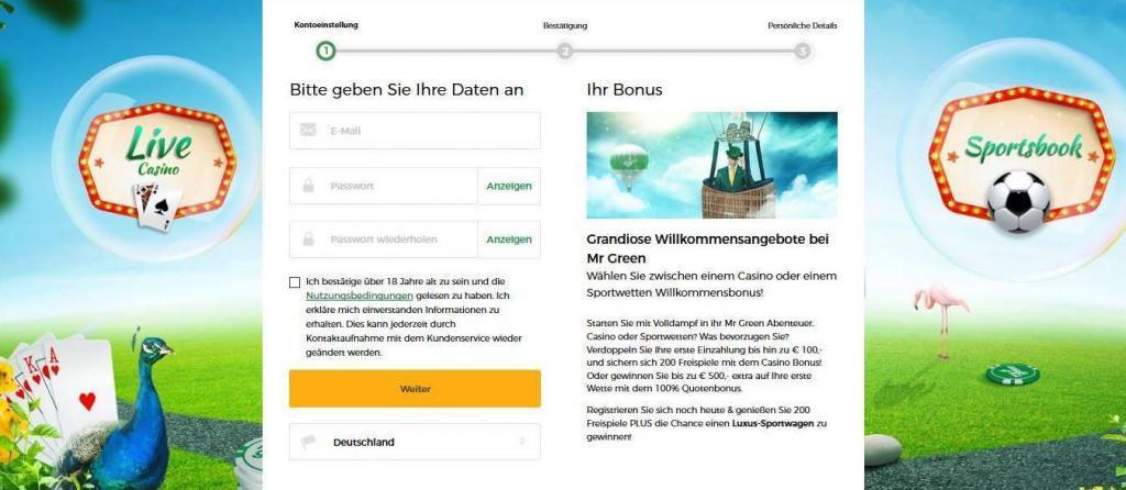 mr green bonus anmeldung