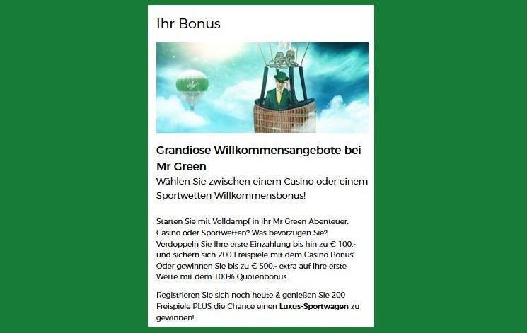 hr. grøn velkomstbonus