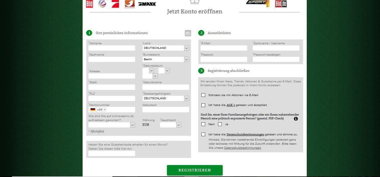 onlinecasino.de anmelden
