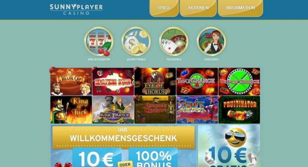 sunnyplayer casino online