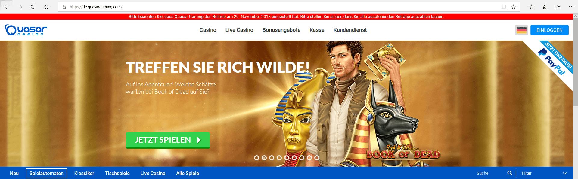 Quasar Gaming online
