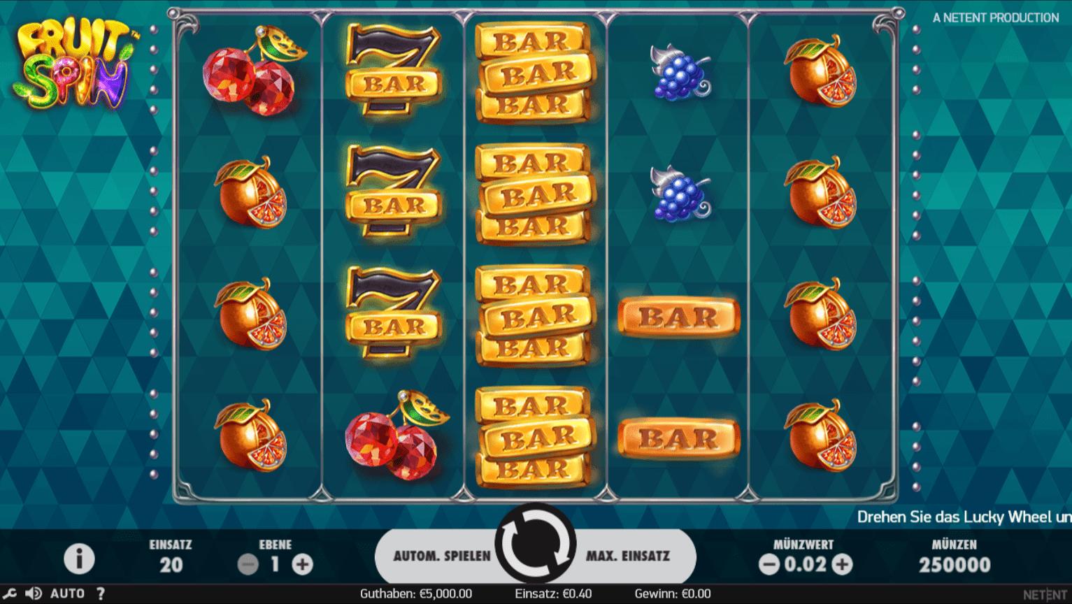 Fruit Spin kostenlos spielen