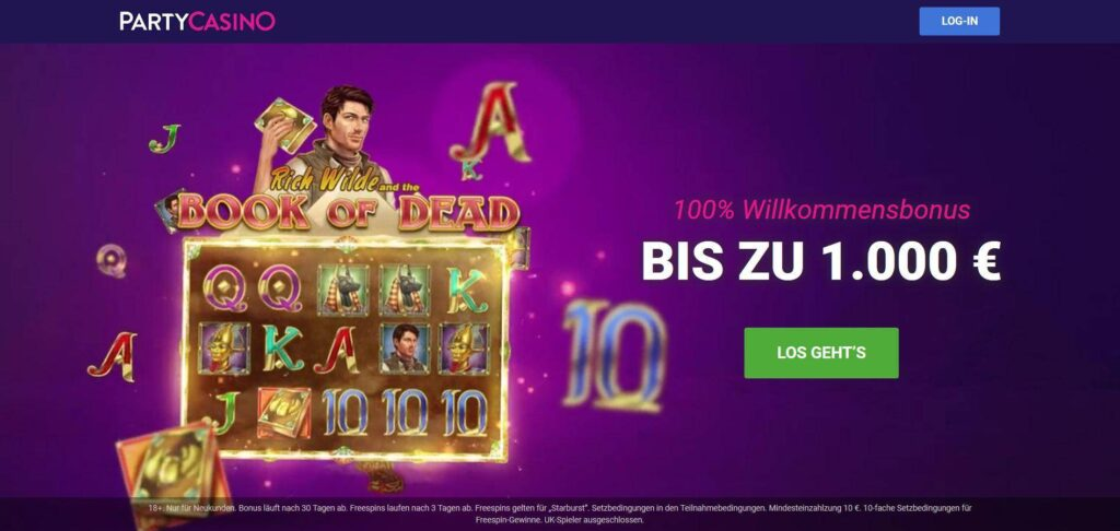 Partycasino online Casino Test
