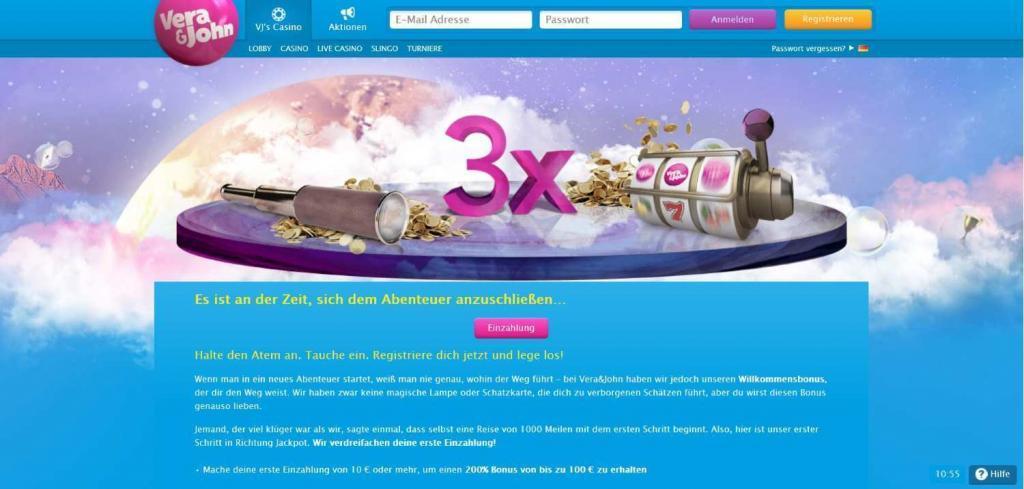verajohn Willkommensbonus - Online casino test - which one is the best in 2021?