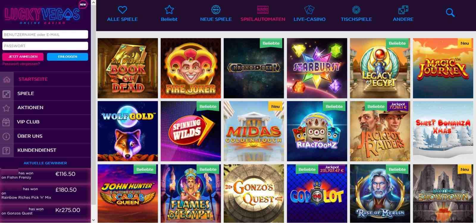 Lucky Vegas Spielautomaten