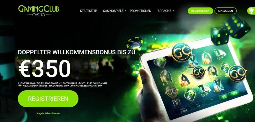 Gaming Club Willkommensbonus - Doppelter Willkommensbonus bis 350€ im Gaming Club