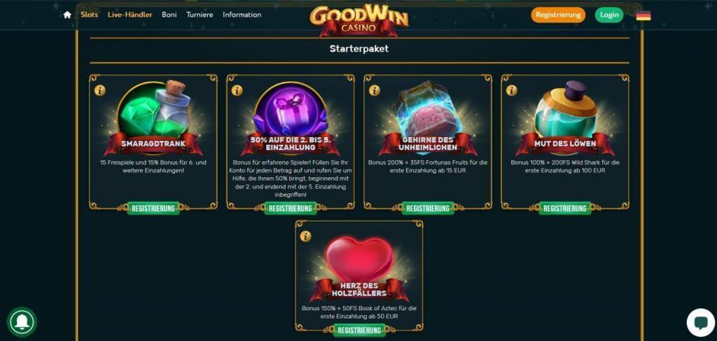 Goodwin Bonus - Онлайн казина без правило за 5 секунди