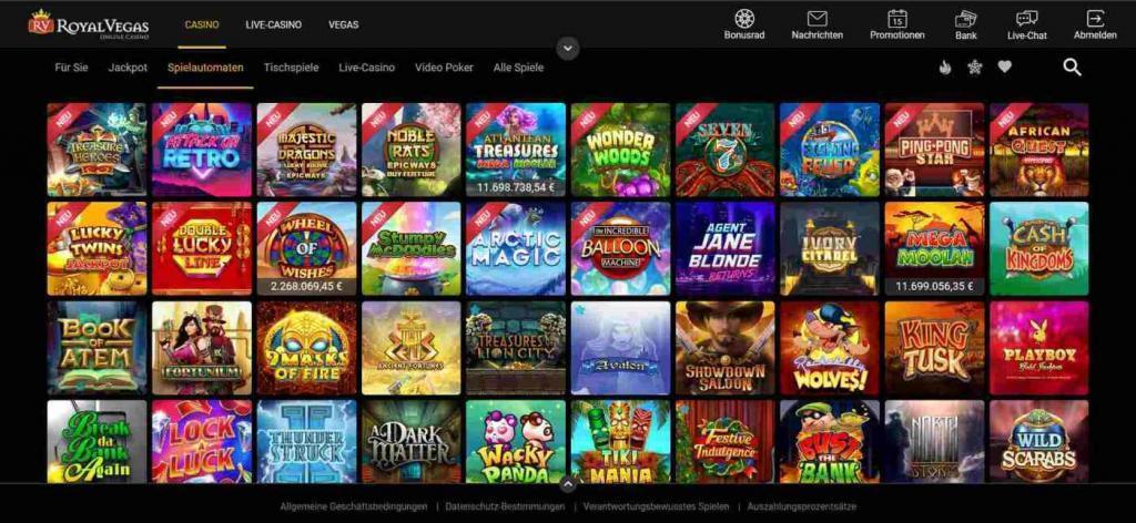 Spielangebot Royal Vegas - Royal Vegas
