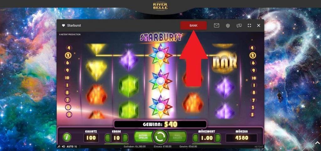 Starburst kostenlos - River Belle Casino