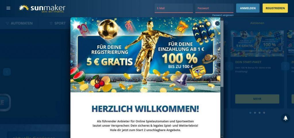 sunmaker 5 eur gratis