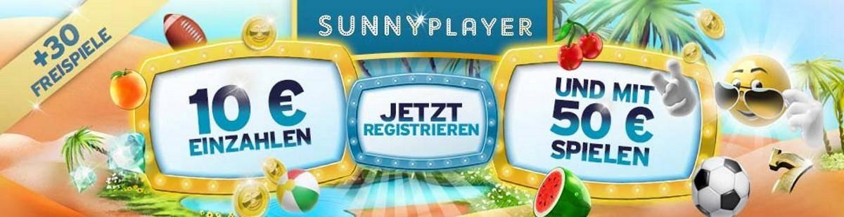 Sunnyplayer Bonus bei Einzahlung