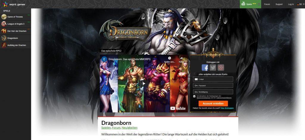 dragonborn - Rollspelstest online