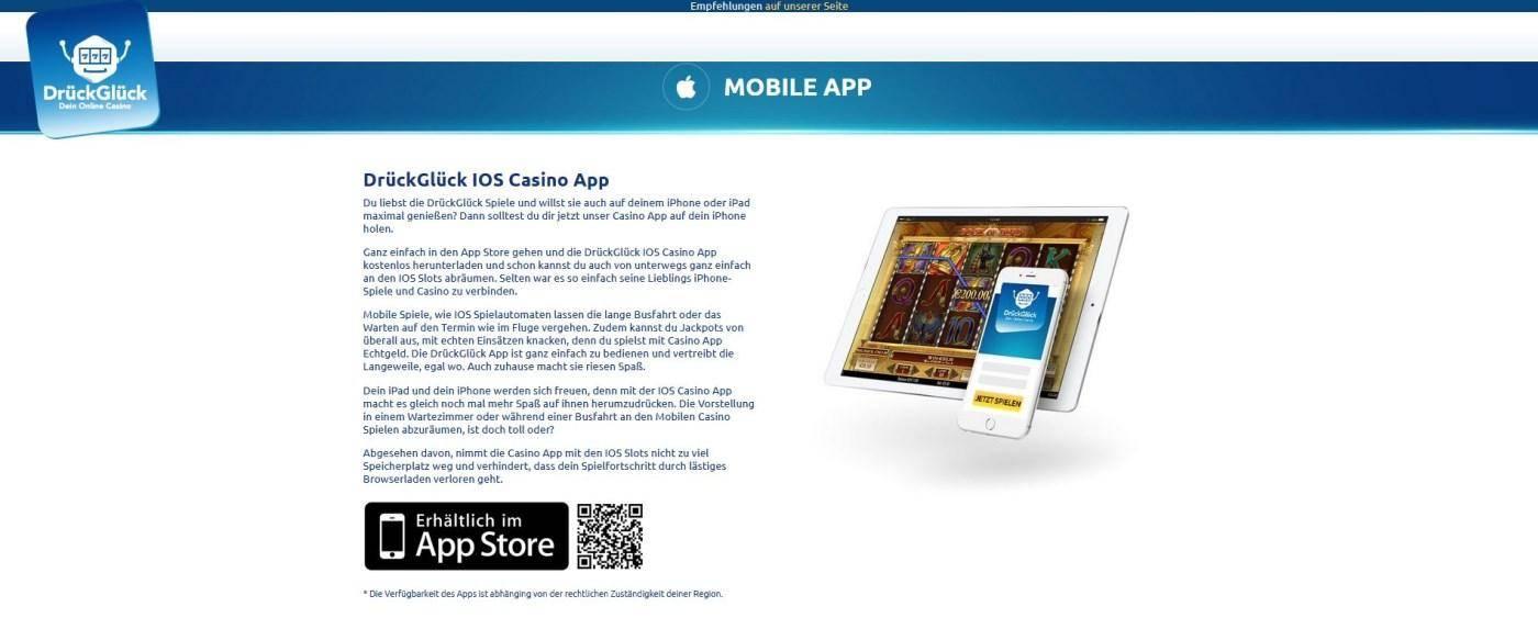 iOS App Drück Glück