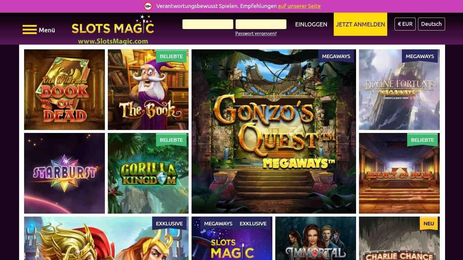 SlotsMagic Casino Spiele