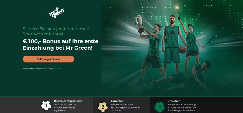 mr green bonus sportwette