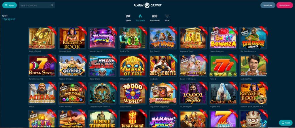 platynowe gry kasynowe